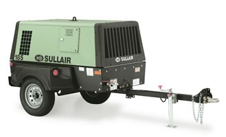 """Sullair"" Portable Air Compressors with manifold"